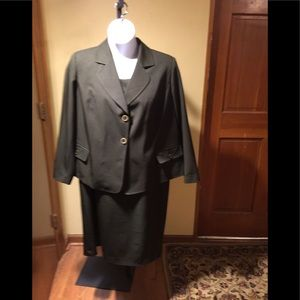 Plus size jacket and dress olive green